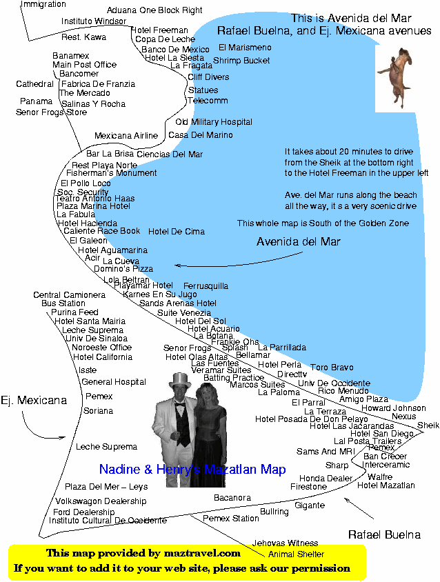 A large map of the Avendia del Mar, and surrounding main streets (60K)